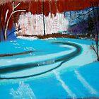 Frozen stream near Chardon, OH by victorgroza