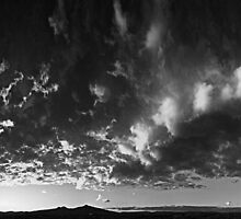 ©HCS Infinite Sunset With Many Faces Of Clouds IV In Monochrome RBc by OmarHernandez