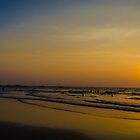 Sunset on a beach by Jitesh Chauhan