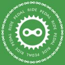 Ride & Pedal with White Text by CyclingPortland