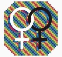 Gay Female symbol - Black/white only by matt lloyd
