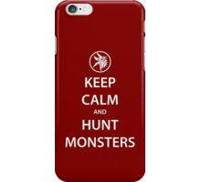 KEEP CALM and HUNT MONSTERS (white) iPhone Case/Skin
