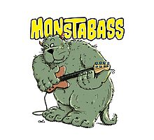 Monster with Bassguitar Photographic Print