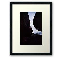 Ballancing Rock Framed Print