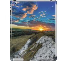 Sunset over the Wolds iPad Case/Skin