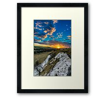 Sunset over the Wolds Framed Print