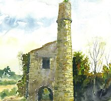 Cornish Tin Mine Engine House by Phil Willetts