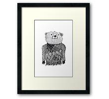 Bear Illustration  Framed Print