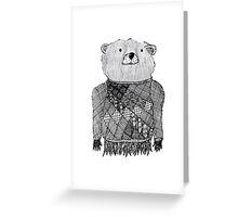 Bear Illustration  Greeting Card
