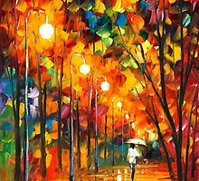 LONG ALLEY by Leonid  Afremov