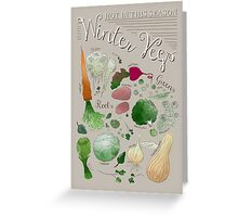Winter Vegetables Greeting Card