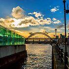 Sunset over the Tyne by Giorgio Elesaro