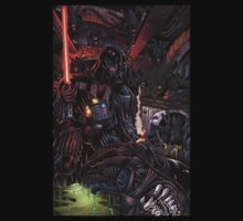 Darth Vader vs Aliens by FUZZYCOBALT