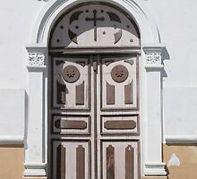 White and Brown Church Door by rhamm