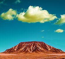 Desert mountain landscape by carloscastilla
