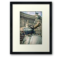 Vespa at the Il Vittoriano monument - Rome, Italy  Framed Print