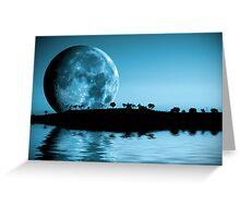 Full moon landscape Greeting Card