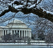 Jefferson Memorial in winter 3 by mkurec