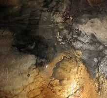 Abstract Earthy Metallic Shapes by fandoms-fineart