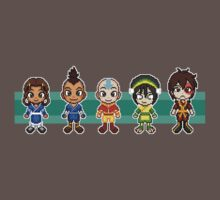 Team Avatar Plus Sifu Hotman Pixels by geekmythology