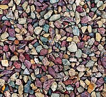 Stone pebbles in grey reddish color range by 3523studio
