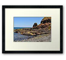 Ocean Beach Rocks Framed Print