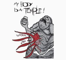 Body is a Temple Nutella T-Shirt by helenrabbitte