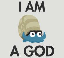 Twitch Plays Pokemon: I Am A God - Light with Dark Text T-Shirt