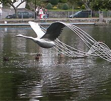 Metal Swan by jamluc