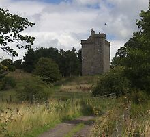 Mains Castle, Scotland. by John Messingham
