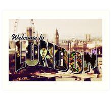 Welcome To London - Sherlock Version #2 Art Print