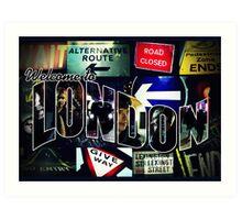 Welcome To London - Sherlock Version #3 Art Print