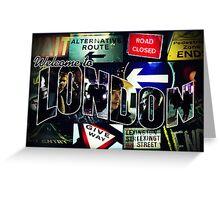Welcome To London - Sherlock Version #3 Greeting Card