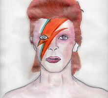 Aladin Sane (David Bowie) by Witchipoo