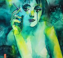 Smoking girl by Alessandro Andreuccetti