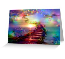 Steps to the Sky Greeting Card