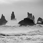 Vik Sea Stacks in heavy seas by Christopher Cullen