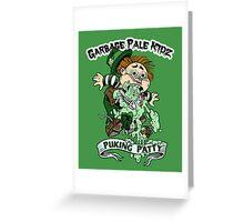 """Garbage Pale Kidz """"Puking Patty"""" Greeting Card"""