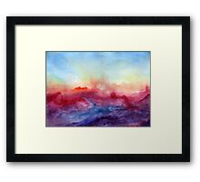Arpeggi - Abstract Watercolor Ombre Framed Print