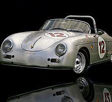 1956 Porsche Speedster 'Mirror Image' by DaveKoontz