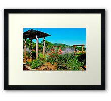 wine country beauty Framed Print