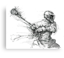 Lacrosse In Motion Canvas Print