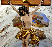 The Cross of Jesus Christ in Stams Monastery by Elzbieta Fazel