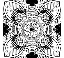 Black And White Lace Pattern Photographic Print