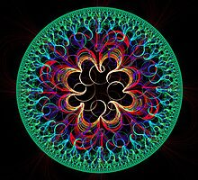 Curly Mandala by James Brotherton