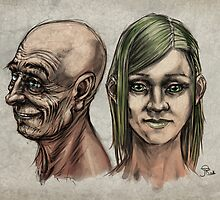 facial sketches by gastrocnemius