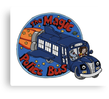 The Magic Police Bus Canvas Print