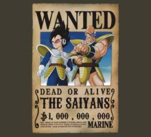 Wanted Poster The Saiyans by BadrHoussni