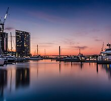 Docklands Sunset by Russell Charters