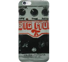 Nirvana Grunge Guitar Pedal Big Muff Fine Art Print Of Acrylic Painting iPhone Case/Skin